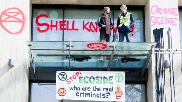 Environmental protesters against Shell