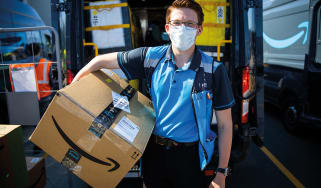 Amazon delivery worker