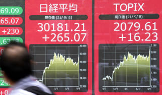 Japanese stock index boards