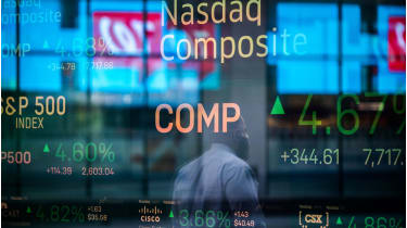 Nasdaq stock index board © Jeenah Moon/Bloomberg via Getty Images
