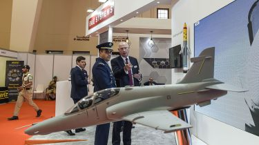 BAE Systems stand at an arms show