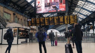 Commuters at Brighton Station