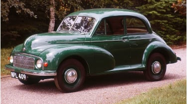 A 1949 Morris Minor © National Motor Museum/Heritage Images/Getty Images