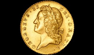 Gold five-guinea coin