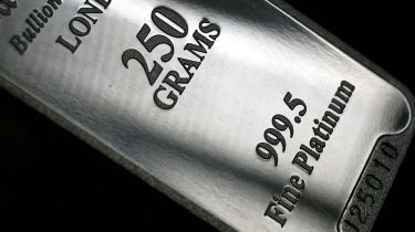 Platinum bullion bar © Graham Barclay/Bloomberg via Getty Images