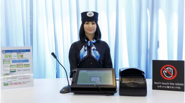 Robot receptionist at the Henn na hotel in Nagasaki