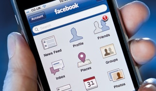 Phone with Facebook on it
