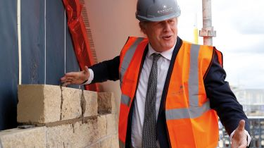 Boris Johnson on a construction site © PHIL NOBLE/POOL/AFP via Getty Images