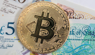 Bitcoin and pound notes