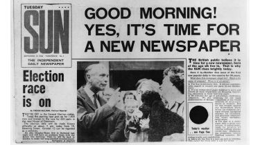 First edition of The Sun newspaper © Central Press/Getty Images