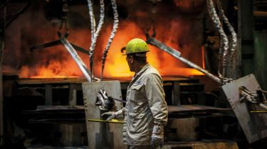 Metal foundry worker