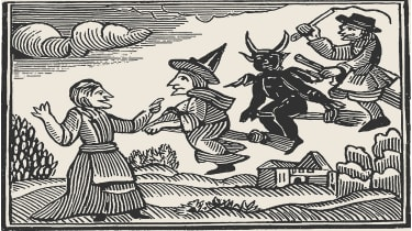 Witches, from The Invisible World by Cotton Mather , 1689 © Heritage Images/Getty Images