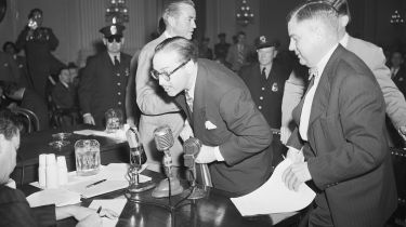 Screenwriter Dalton Trumbo before the Un-American Activities Committee