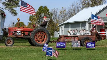 US election placards