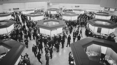 London Stock Exchange Trading Floor, 1975