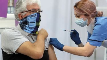 Nurse giving an injection