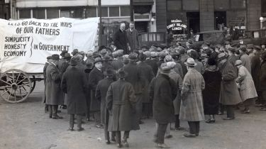 Herbert Hoover on the campaign trail