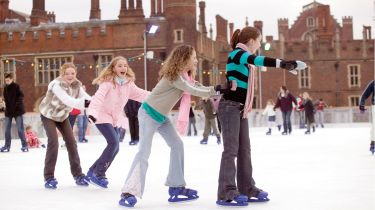 Ice Skating at Hampton Court