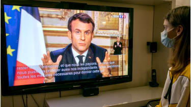 France's Emmanuel Macron has vowed that no business will go bust © Getty