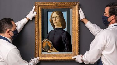 Sandro Botticelli's Young Man Holding a Roundel