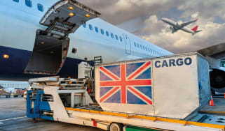 Air cargo being loaded