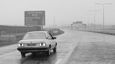 Car on the M25 in 1984