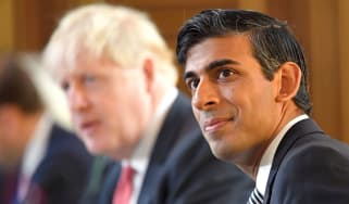 Rishi Sunak and Boris Johnson © TOBY MELVILLE/POOL/AFP via Getty Images
