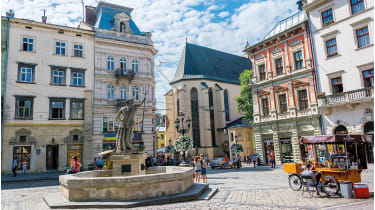 Lviv's leafy squares and grand buildings © Getty
