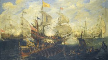 Battle of Lepanto by Andries van Eertvelt.  Photo © Fine Art Images/Heritage Images/Getty Images