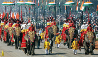 Elephant procession in India ©RAVEENDRAN/AFP via Getty Images