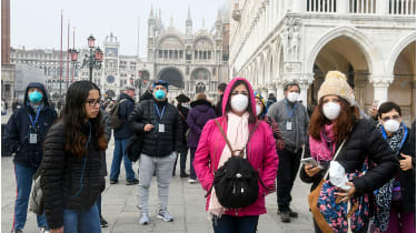 Face masks are selling at a premium in Venice