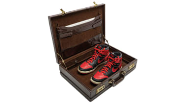 Trainers in a briefcase