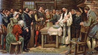 Baptism of Virginia Dare © Hulton Archive/Getty Images