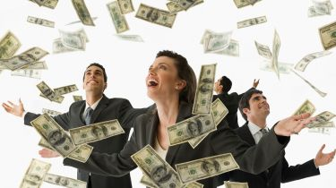 People being showered with cash © Getty Images