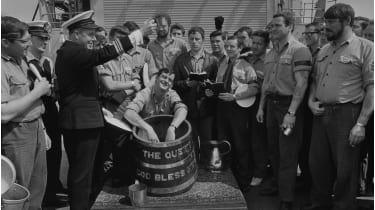 Leander-class frigate at their last rum ration © Evening Standard/Hulton Archive/Getty images