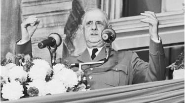 Charles De Gaulle supporting Quebec separatism in Montreal © Bettmann Archive/Getty Images