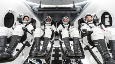 NASA astronauts in SpaceX's Crew Dragon spacecraft