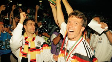 West Germany lift the Cup in 1990