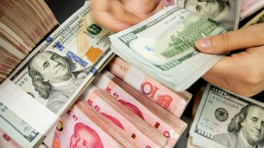 Chinese yuan and US dollars