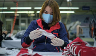 Worker in a Vietnamese factory