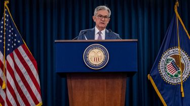 Fed chair Jerome Powell: easily panicked © Getty