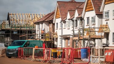 Houses under construction © Matt Cardy/Getty Images