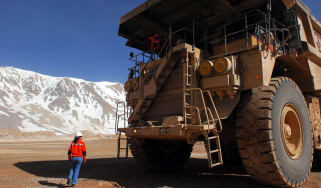 Barrick Gold  mining dump truck © Diego Levy/Bloomberg via Getty Images