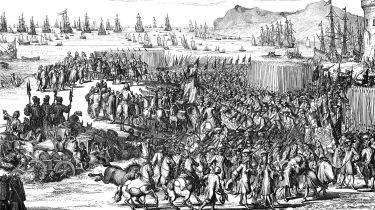 William of Orange landing with his army at Torbay