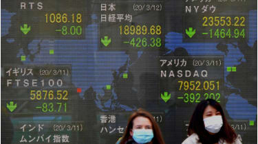 The world's stockmarkets have taken a pounding © Getty