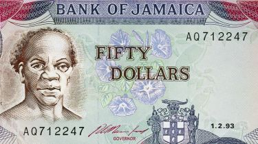 Samuel Sharpe on a Jamaican $50 note © DeAgostini/Getty Images
