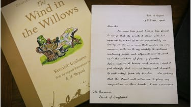 Kenneth Grahame's resignation letter © Peter Macdiarmid/Getty Images