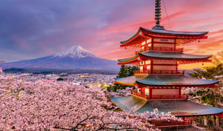 View of Mount Fuji in Japan