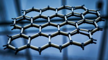 A model showing the hexagonal structure of graphene © Matthew Lloyd/Bloomberg via Getty Images
