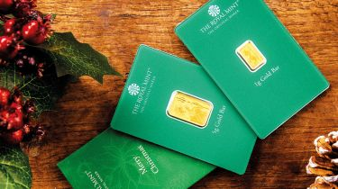 Royal Mint Christmas gold-bar gift packs